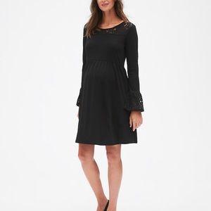 Gap Lace Trim True Black Holiday Dress. Medium